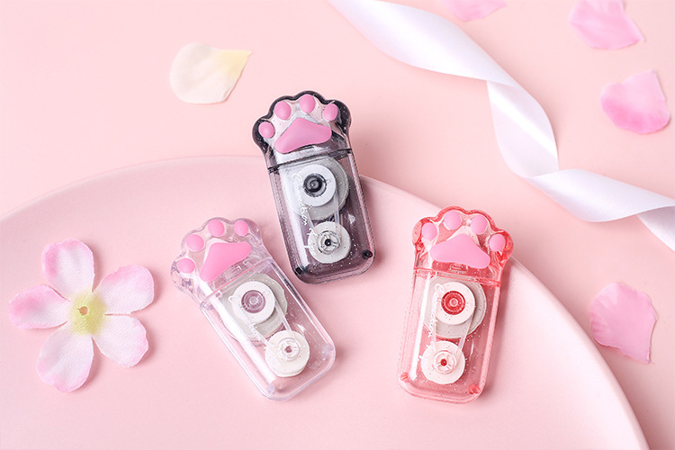 Cat claw correction tape cute girl heart student with correction tape 6M cartoon correction tape correction tape NHHE202212