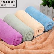 厂家批发3575经编珊瑚绒包边毛巾吸水速干美容居家日用礼品干发巾