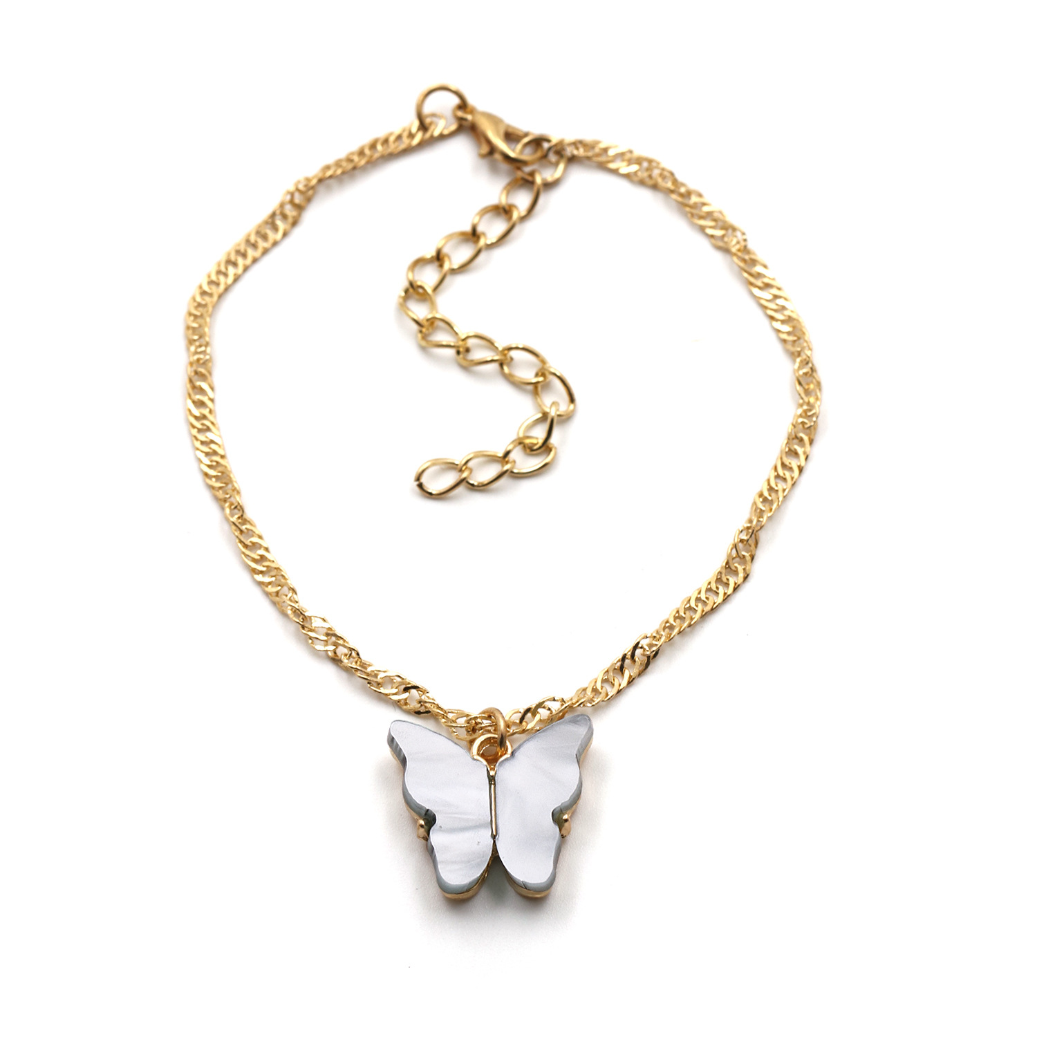 fashion wild accessories popular color butterfly necklace clavicle chain wholesale nihaojewelry NHJJ222378