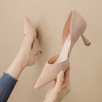 Han edition style 1998-1 point light show thin mouth high-heeled shoes fine with hollow out sexy sandals professional OL for women's shoes