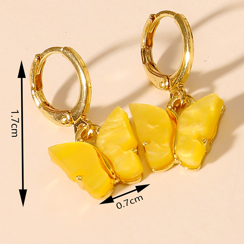 Korean fashion simple niche butterfly combination hotsaling new trend earrings  NHKQ246966