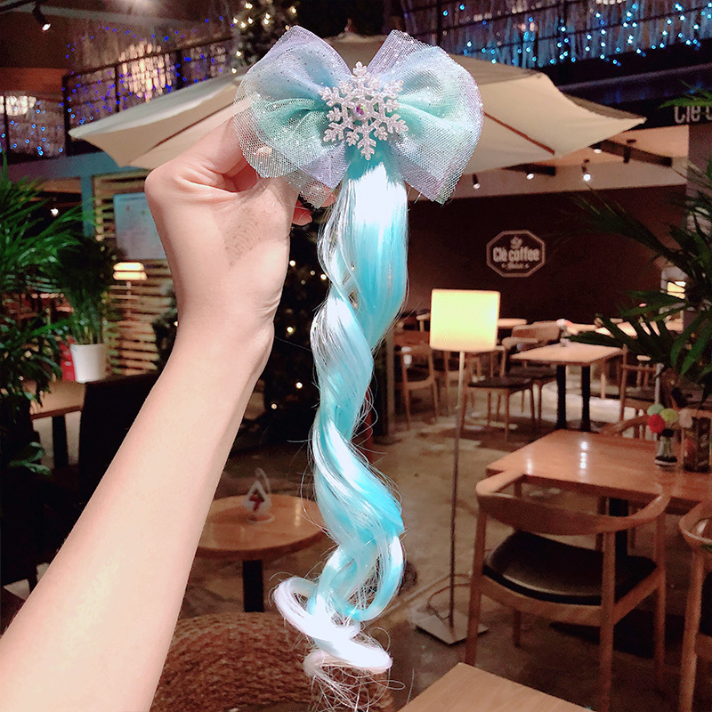 Korean new cute wig children bowknot cheap hairpin wholesale NHNA207440