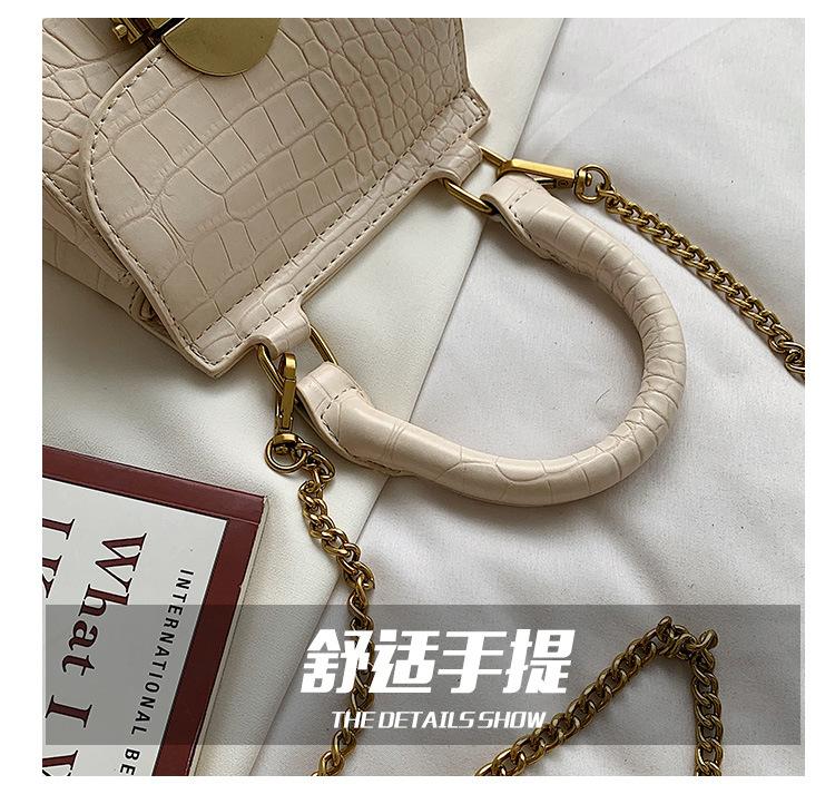 new fashion crocodile pattern chain small square shoulder messenger bag NHLH253745