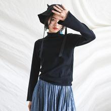 厂家直销2020秋季半高领打底衫纯色套头衫毛衣长袖针织衫毛衫女