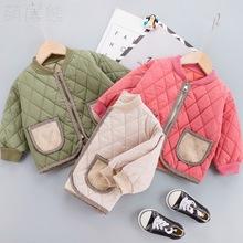 一件代发宝宝加厚棉服冬季儿童新款夹棉短款外套小童保暖棉袄批发