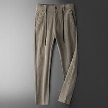 男装新款长裤男士灯芯绒长裤休闲大码宽松纯色男长裤子潮9908