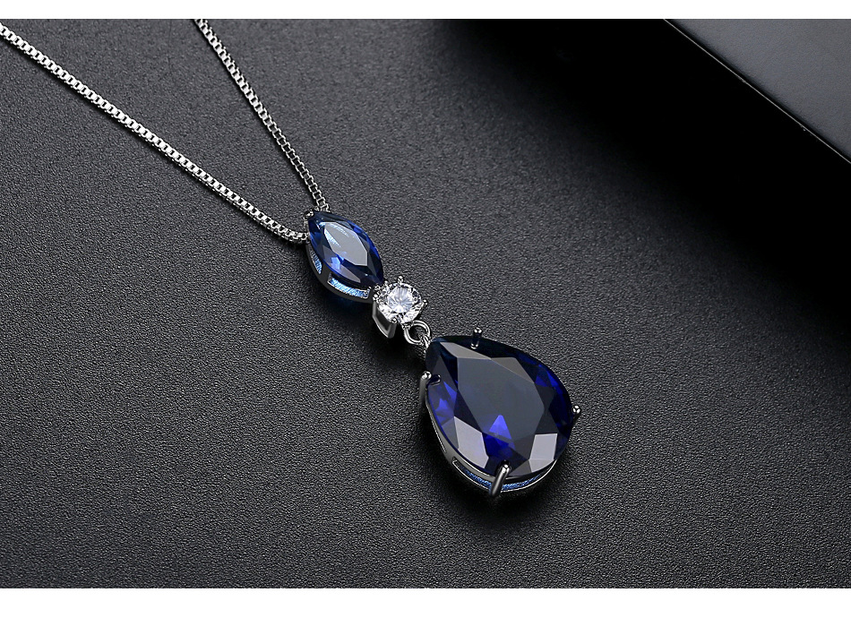 New fashion simple wild ladies banquet copper inlaid zirconium necklace wholesale NHTM201354