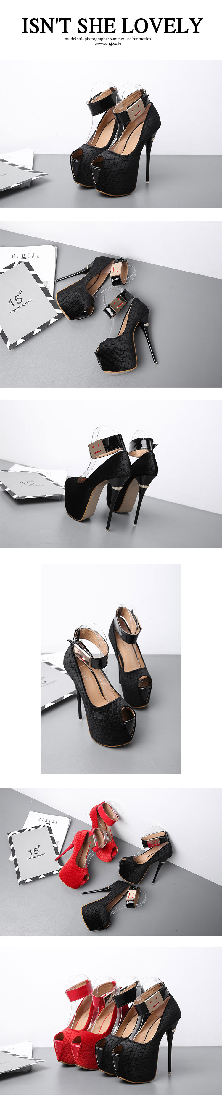 New women's shoes stiletto super high heel waterproof platform fish mouth single shoes NHSO203254