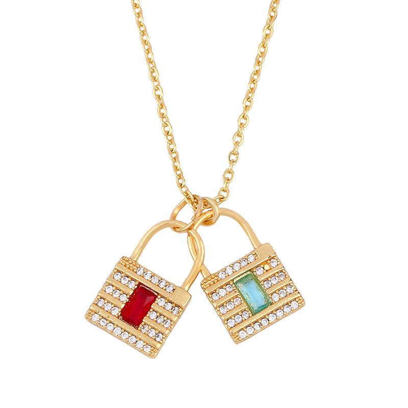Fruit pineapple short paragraph chain Korean sweet simple crystal pendant diamond necklace NHAS202592