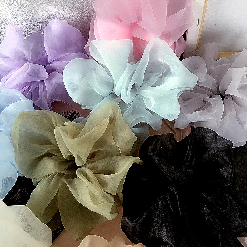 Retro spring and summer oversized thick organza wild hair ring hair accessories NHHI201284