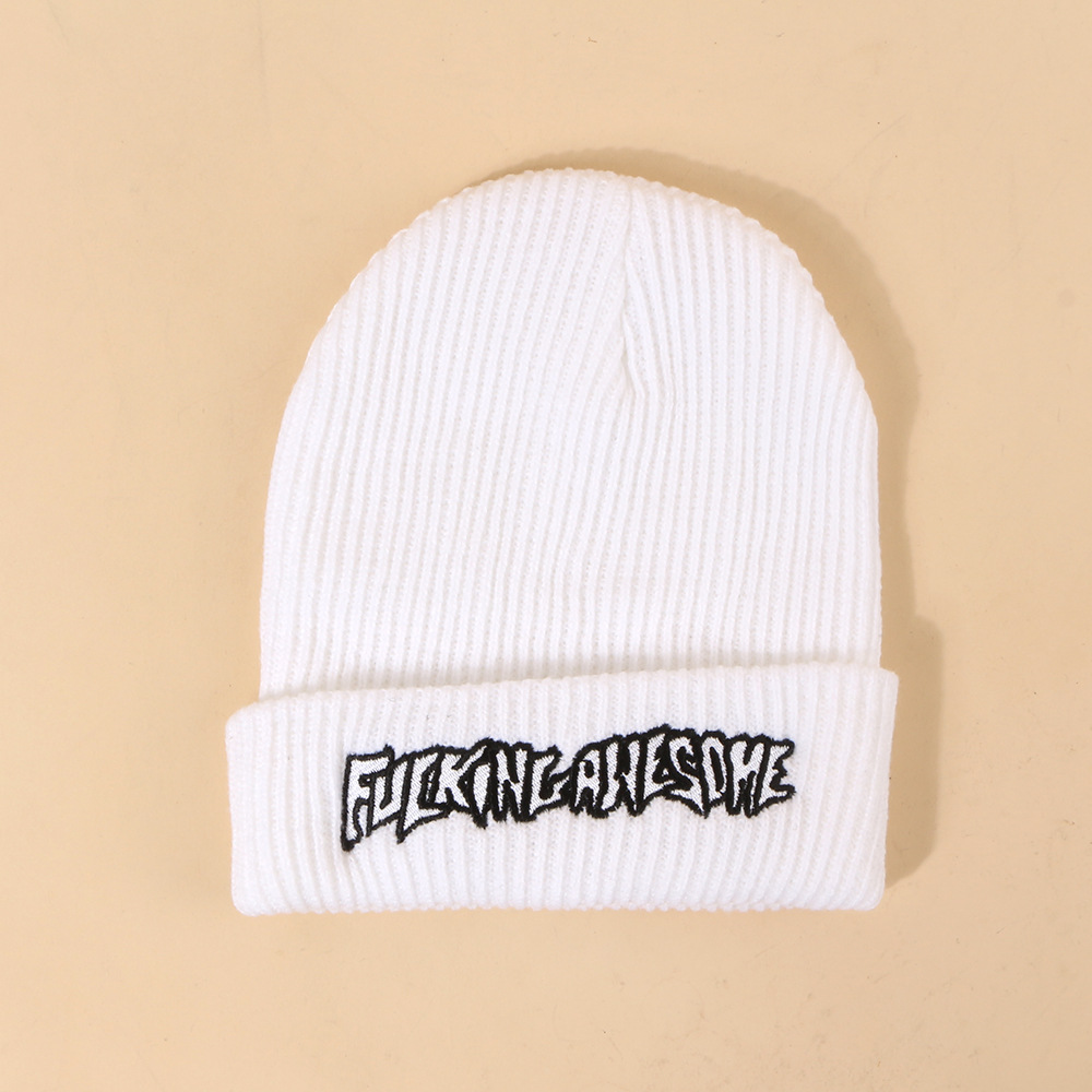 Hot selling new woolen womens embroidery pure color knitted hats wholesale NHTQ258788