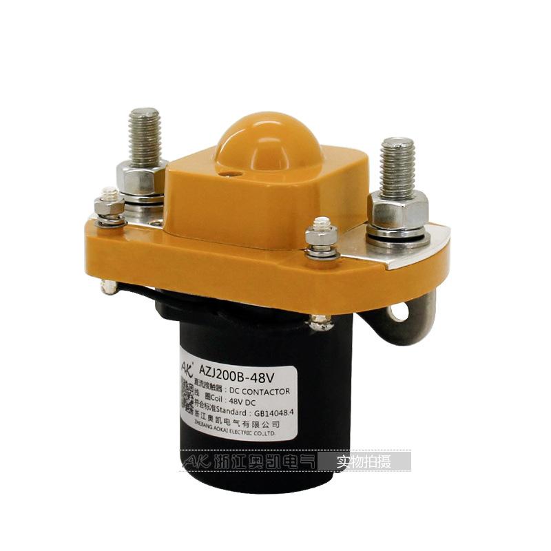 奥凯电气AZJ200直流电磁接触器  BZJ200D MZJ200D一组常开接触器