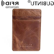 GUBINTU anti-magnetic multi-position card package ultra-thi