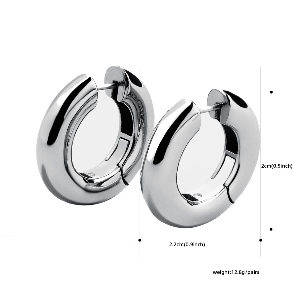stainless steel smooth ear buckle NHLL285203