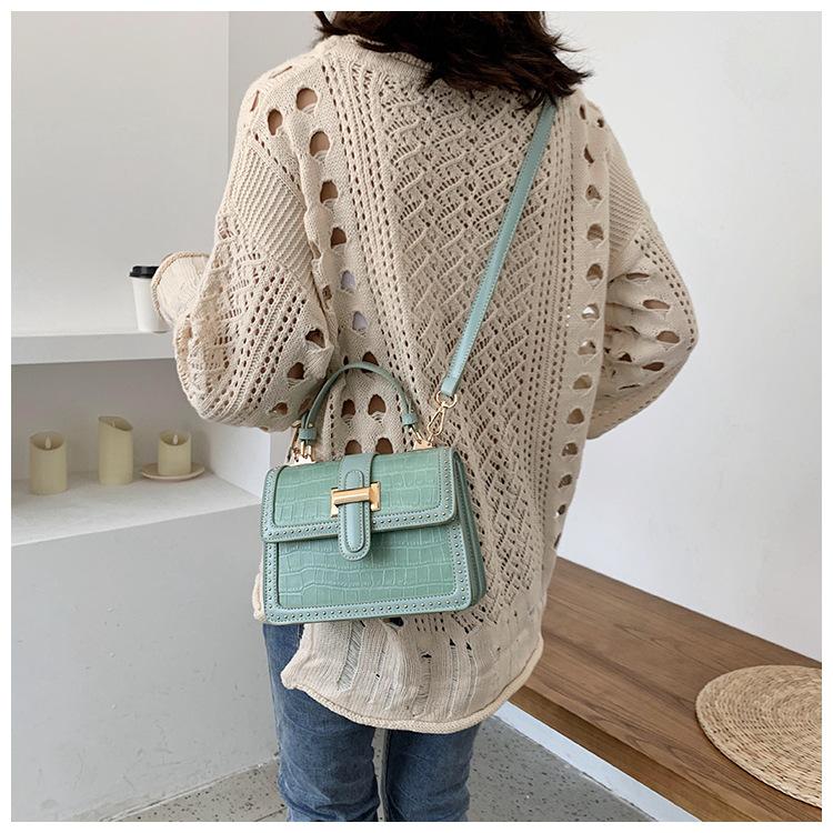 new trendy Korean casual tide texture messenger womens fashion portable small square bag NHJZ242734