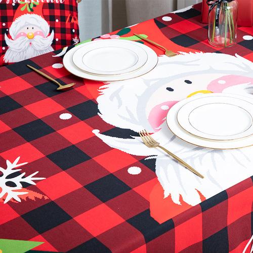 Tablecloth table cloth table cover Christmas table digital printing table customization