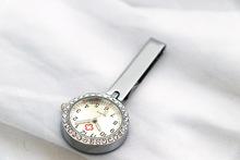 雷諾達海星圓盤護士表男女醫護通用夾子別針掛表定制LOGO一件代發
