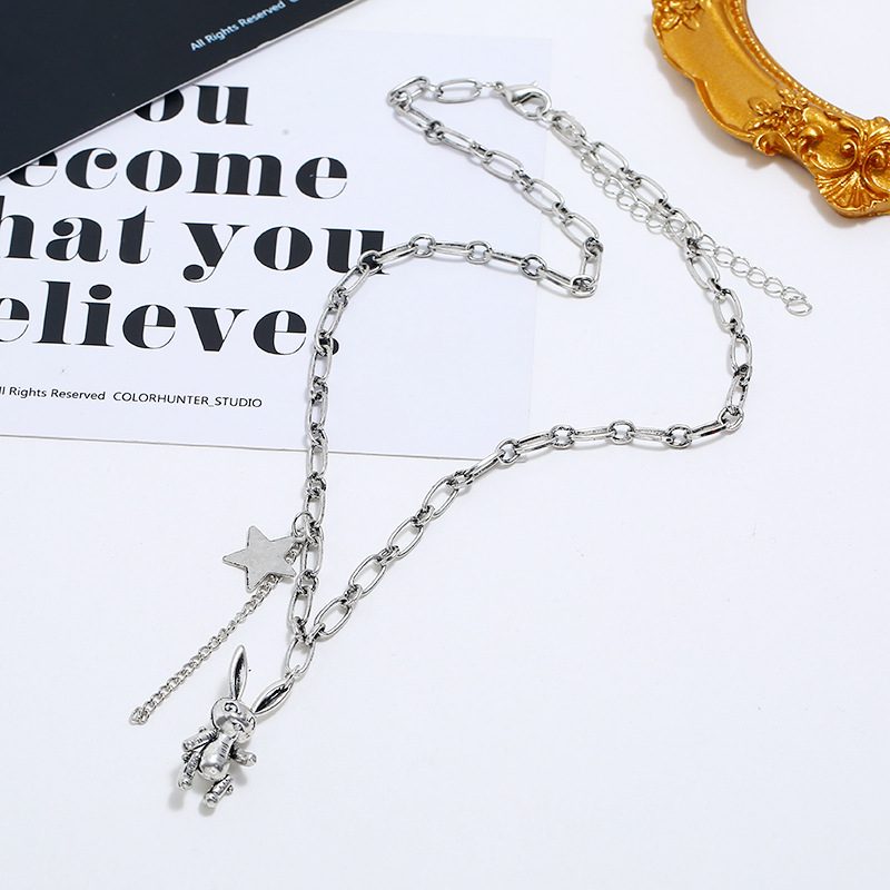 Fashion Trend Clavicle Chain Simple Bunny Star Pendant Necklace wholesales yiwu suppliers china NHKQ202969