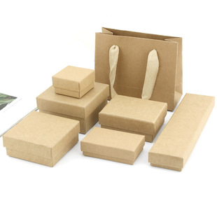 Factory direct sales heaven and earth cover kraft paper jewelry box ring necklace bracelet jewelry jewelry gift box