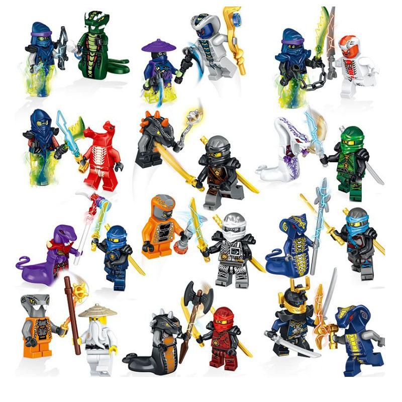 将牌31035幻影忍者大战蟒蛇怪部落24人仔拼装积木男孩玩具