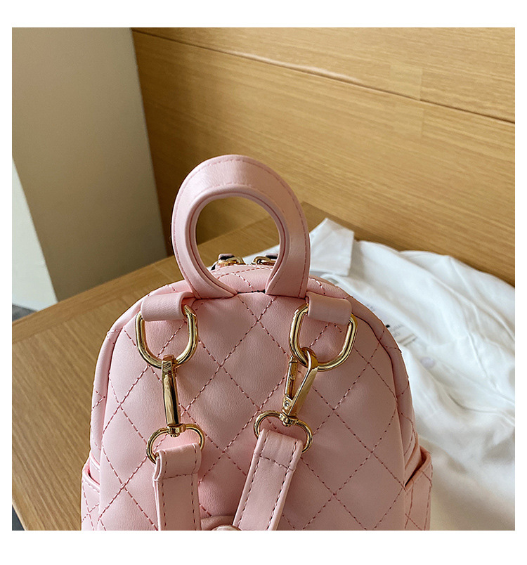 Women's bags wholesale nihaojewelry new Lingge handbag Korean fashion wild backpack female backpack NHTC213098