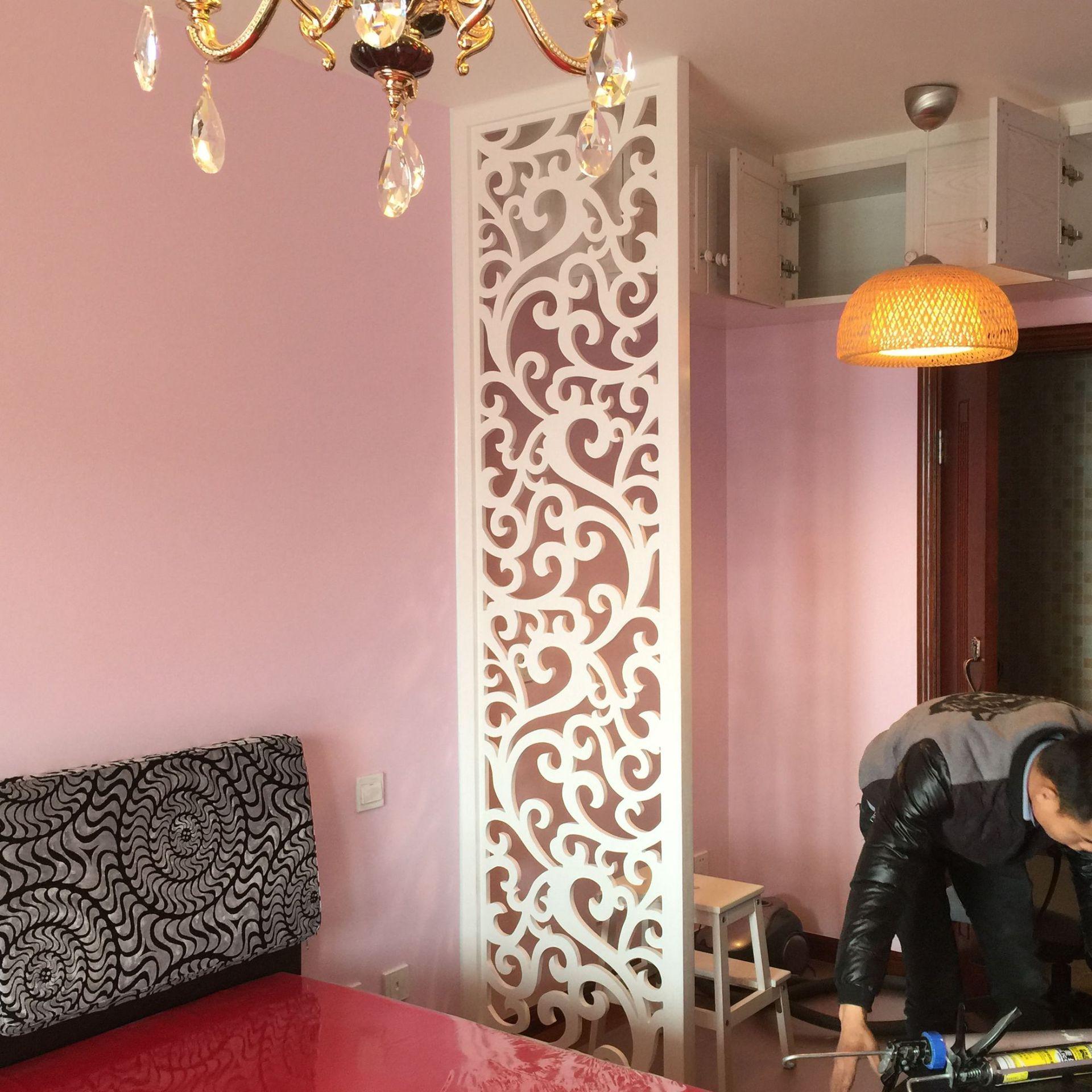 欧式格栅客厅通花板屏风 密度镂空花格玄关隔断雕花板