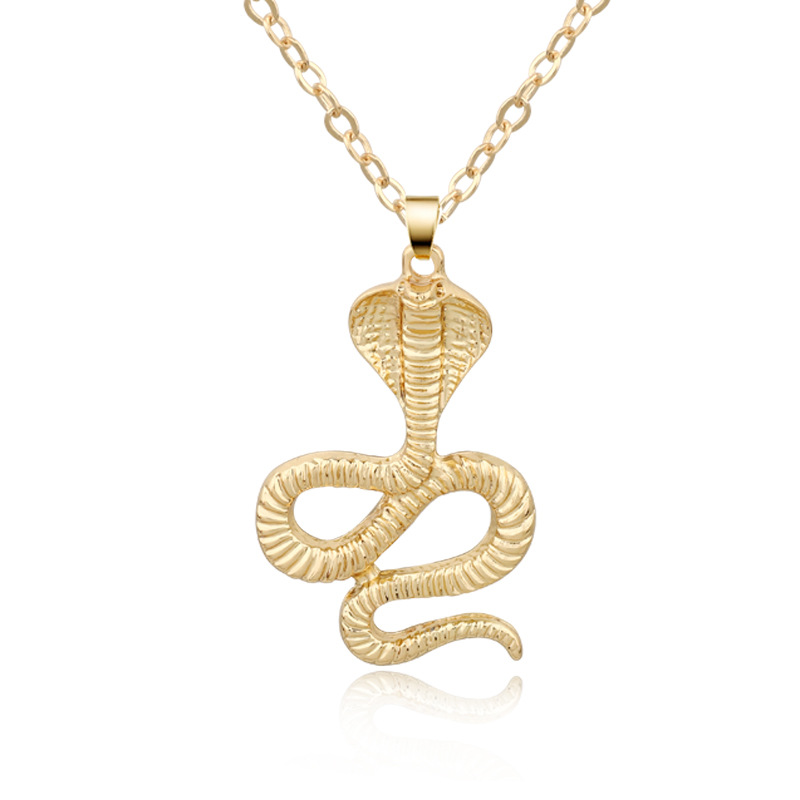 Accessories New Cobra Necklace Punk Metal Animal Pendant Necklace Gold Chain NHGO204407