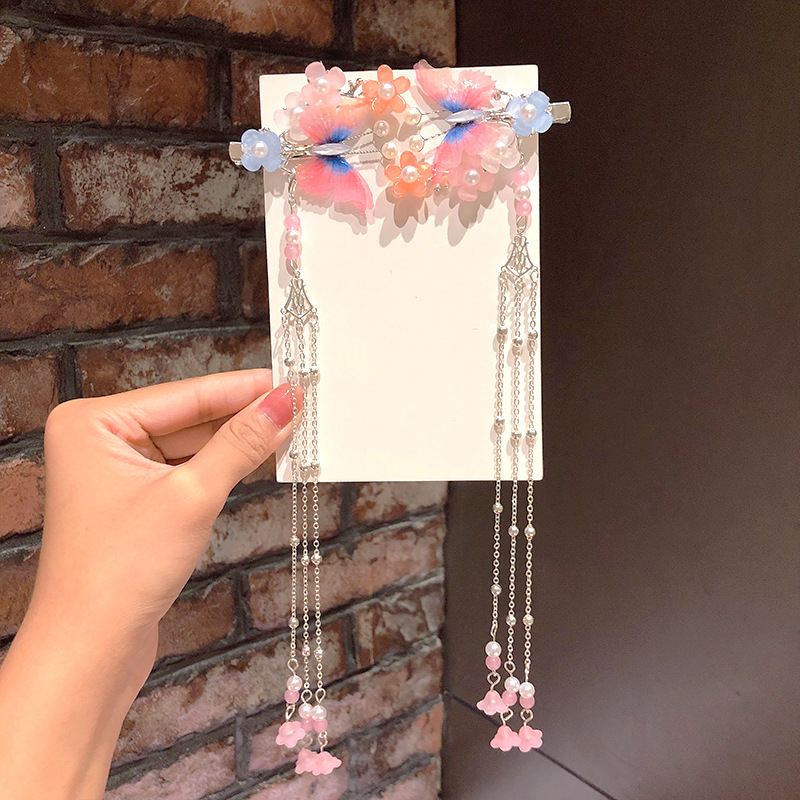headdress step shake tassel step shake hair accessories hairpin little girl costume accessories girl retro style clip NHNA217353