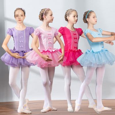 Children Ballet tutu Skirt dance dress long sleeve short sleeve girl ballet skirt training dress Children Ballet tutu Skirt national dance dress one piece dress