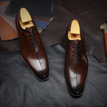 韓版男士商務正裝婚鞋潮鞋英倫尖頭系帶男皮鞋廠家批發手工皮鞋
