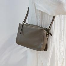 2021新款女式头层牛皮包包斜挎小方包单肩包日系文艺小包