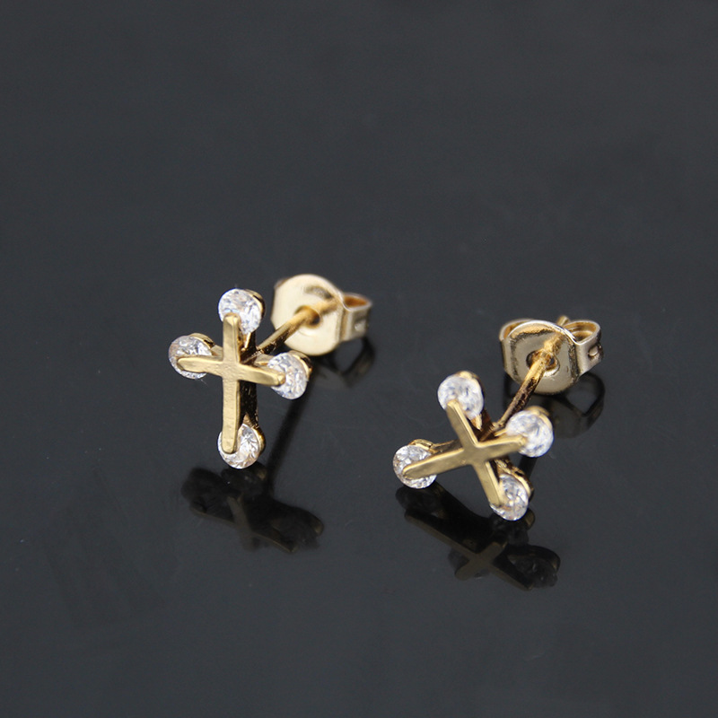 New zirconium stud earrings with diamonds NHBP205853