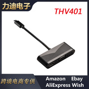 新款THV401 Type-c to vga转接线USB3.1 Type-C to HDMI转接器