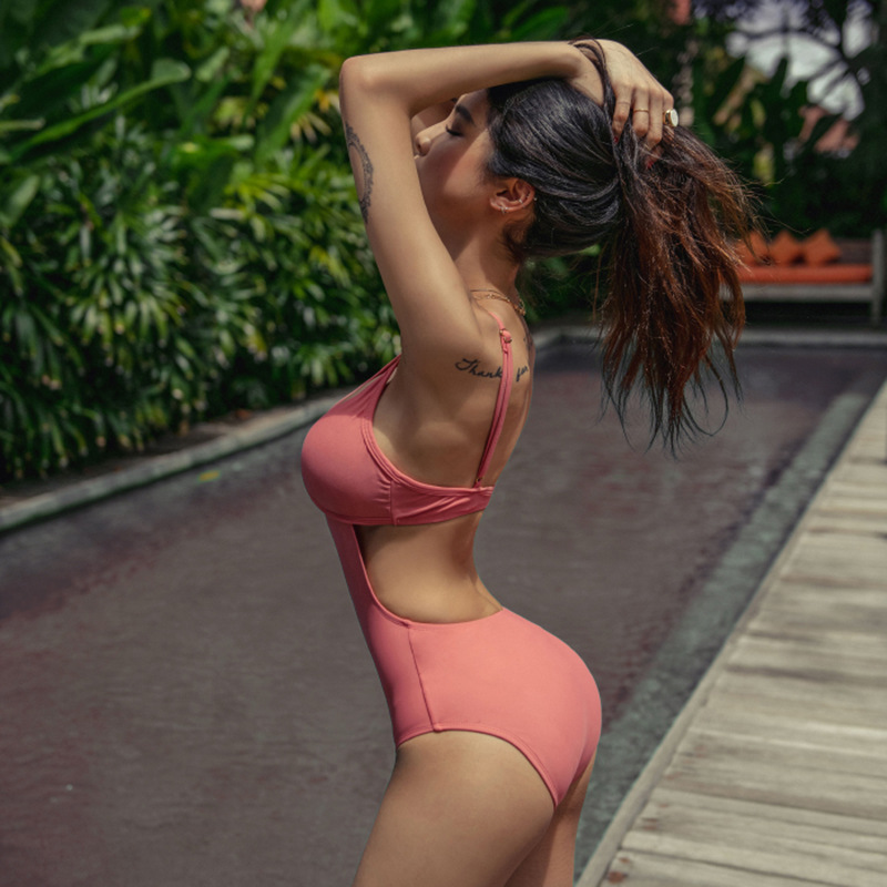 fashion slim sexy backless one-piece swimsuit   NSHL4024
