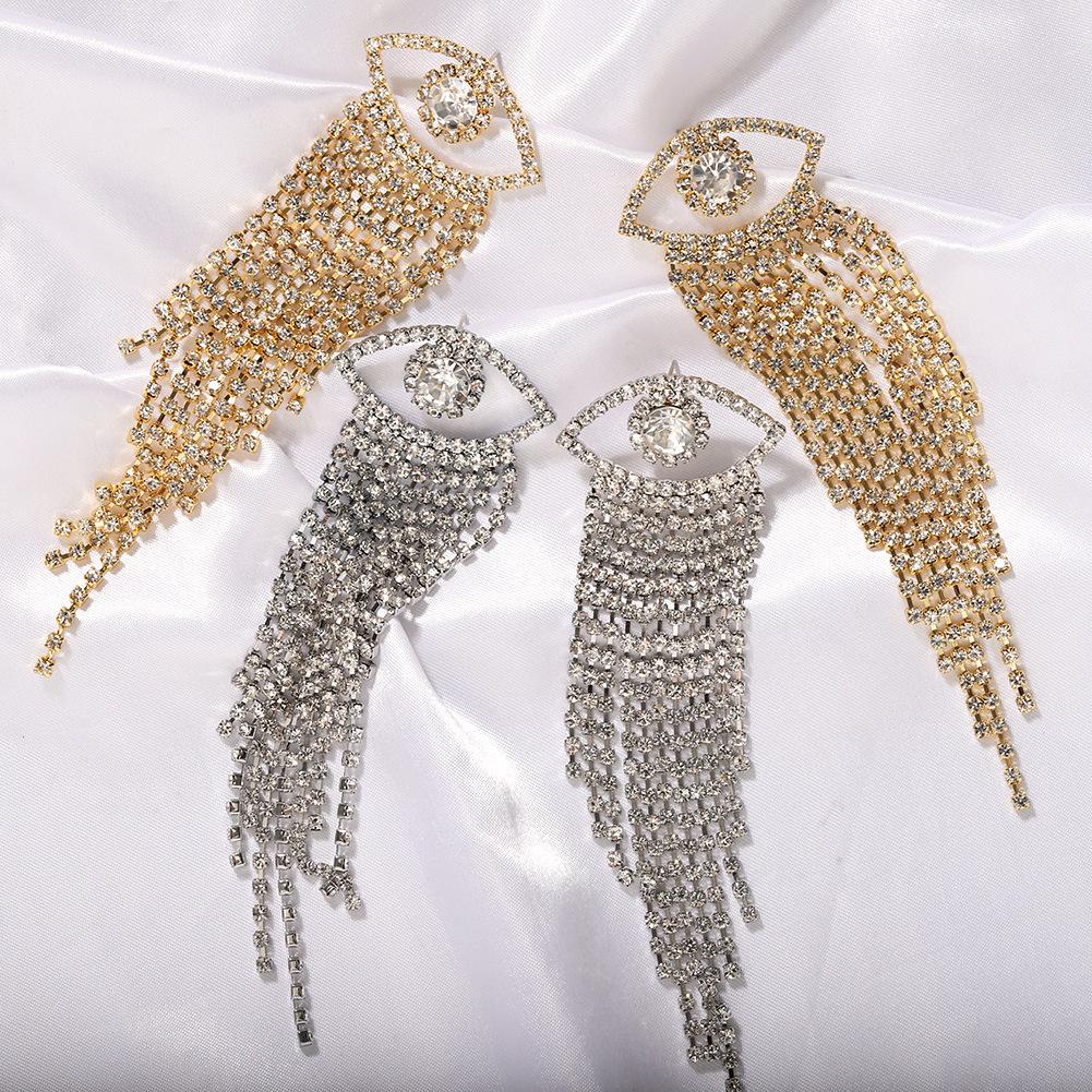 Jewellery for women New Devil's Eye Tassel Earrings cheap wholesales yiwu  NHJQ202605