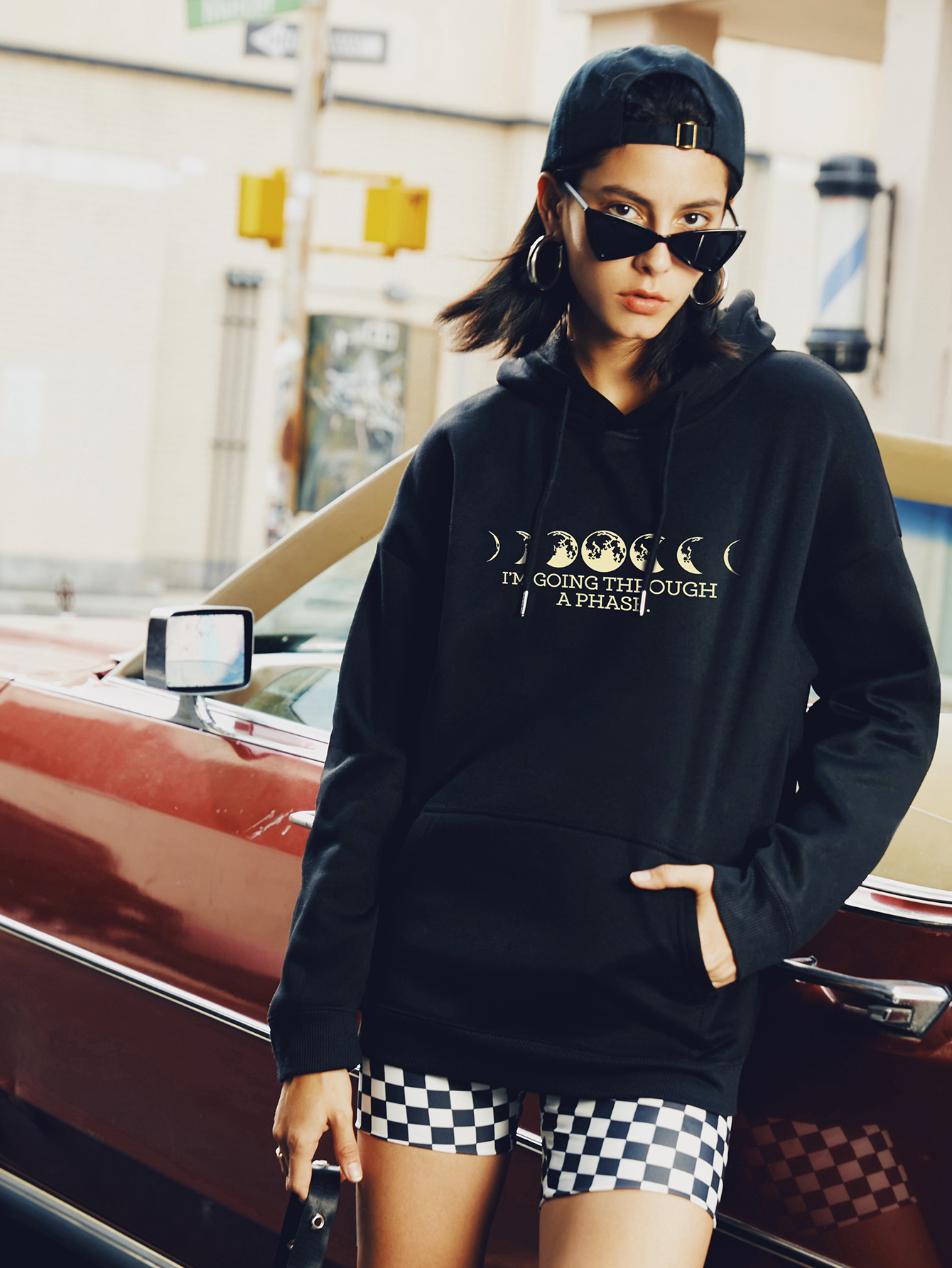 casual planet moon hooded sweater NSSN2265