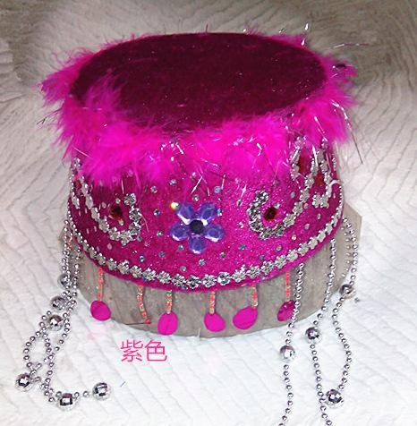景区工艺品批发 儿童新疆舞蹈帽子 民族小公主帽 香香公主帽