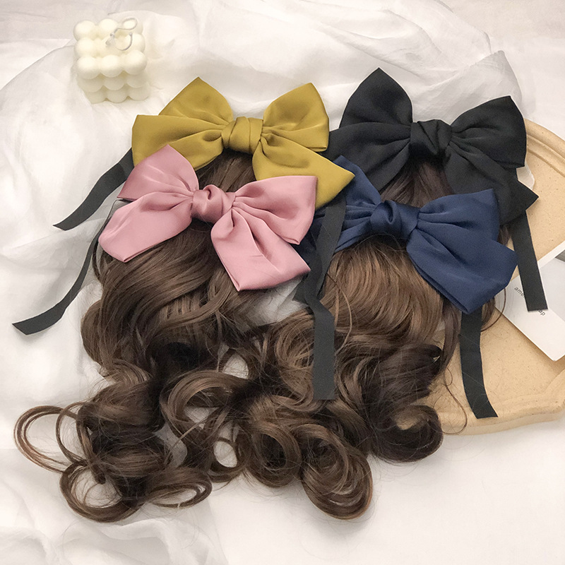 New  big bow hair ornament big wave clip wholesale nihaojewelry NHNA243459
