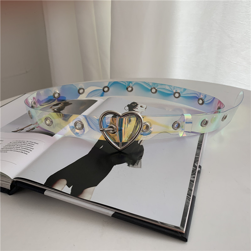 fashion colorful fullhole transparent belt  NHWP336908