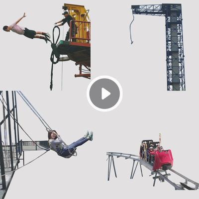 景区游乐设备蹦极无动力游乐项目厂家直销大型户外游乐定制2020