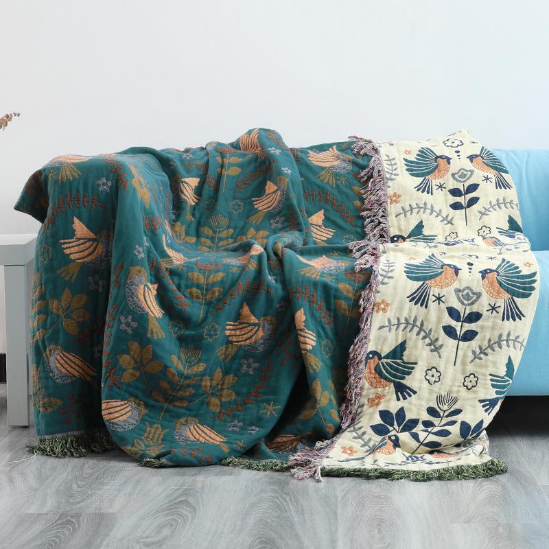 棉纱布沙发套罩巾全棉全包盖布北欧沙发垫盖毯毛巾被四季通用