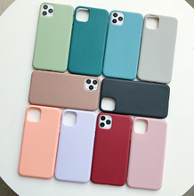 Color Silicone Couples phone Case Soft case 适用 iphone 11