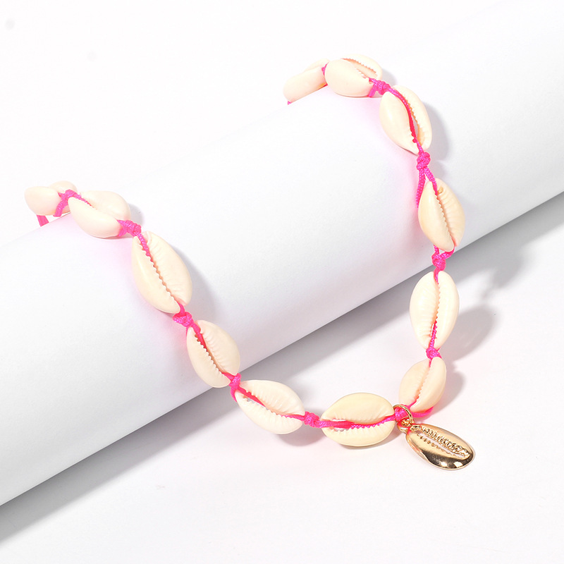 Hot selling fashion Temperament Candy Color Fluorescent Shell Necklace NHRN258396