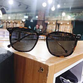 韩版男新款玳瑁色方形小脸墨镜女原宿街拍偏光太阳镜复古网红眼镜