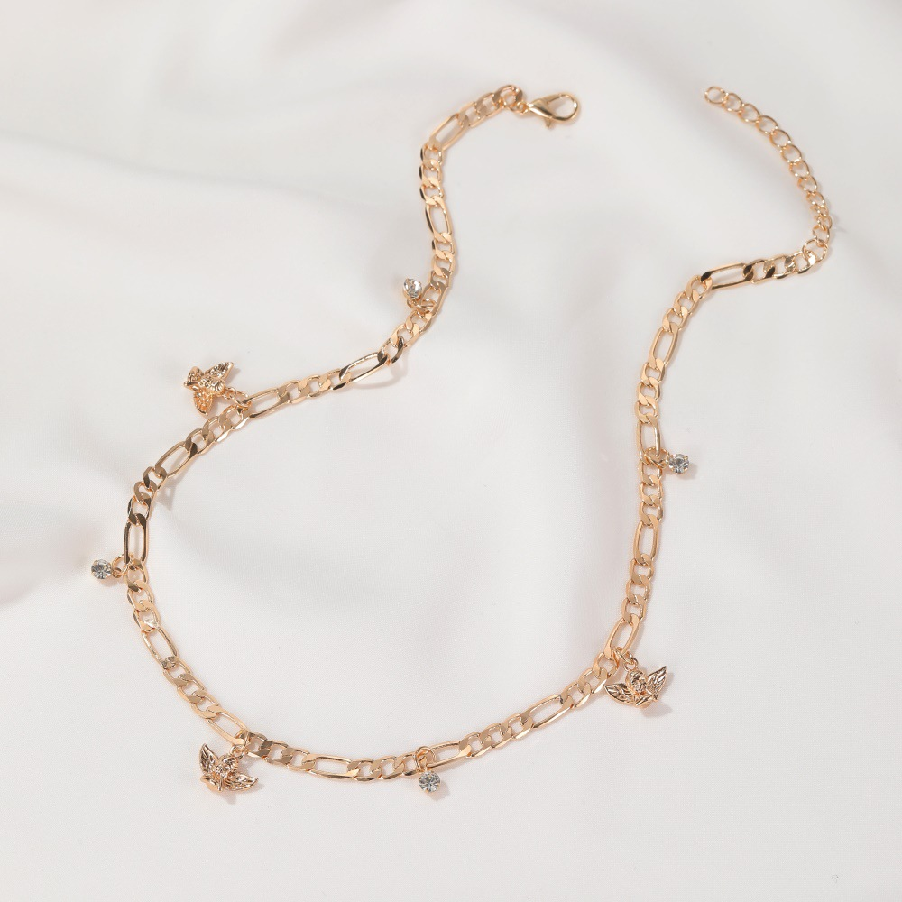 Fashion hot sale cute little angel necklace of women retro angel baby clavicle chain new accessories nihaojewelry NHDP237044