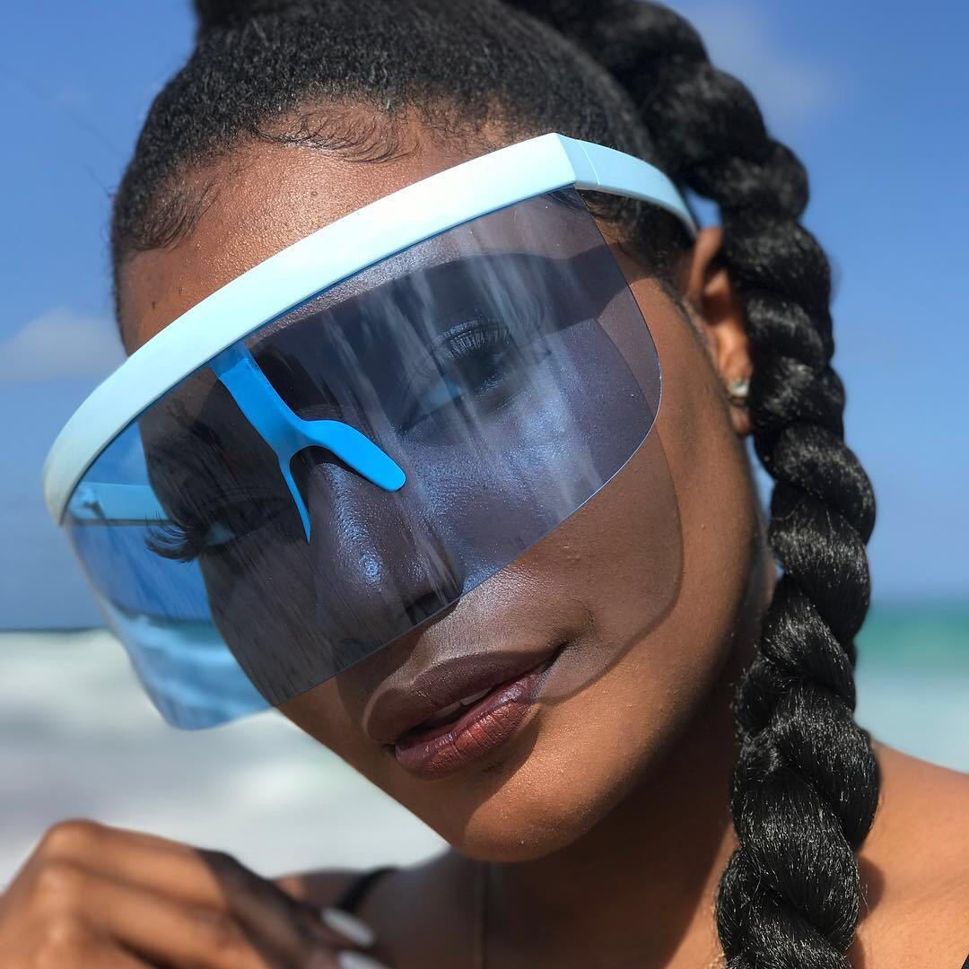Large Lens Anti-peeping and Anti-foaming Protective Sunglasses Outdoor Anti-ultraviolet Sunglasses
