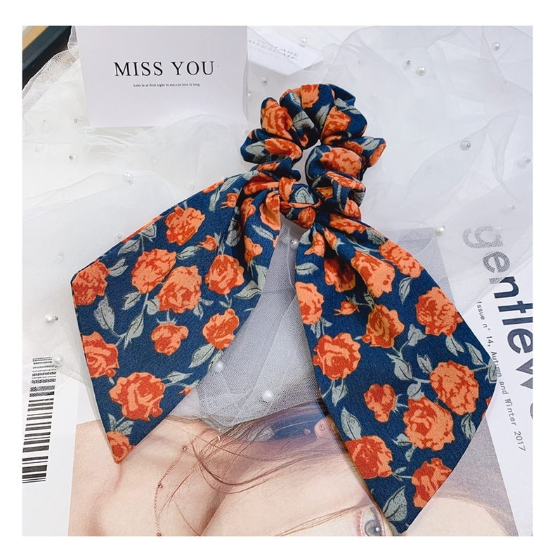 New Korean wild original retro floral cheap scrunchies wholesale NHHD207357