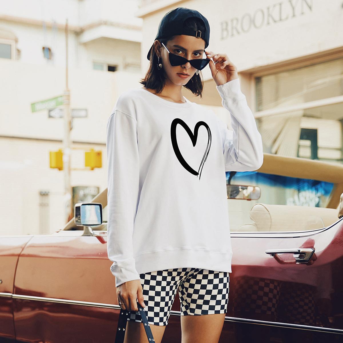 women's round neck long sleeve street casual hoodies for women NSSN1741