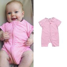 In the summer of 2019 with short sleeve romper suit infants
