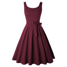 春夏新款亞馬遜熱賣蓬蓬裙女裝歐美時尚吊帶款連衣裙現貨